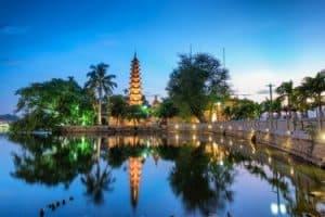 Vietnam Sehenswürdigkeiten HaNoi Tran Quoc Tempel