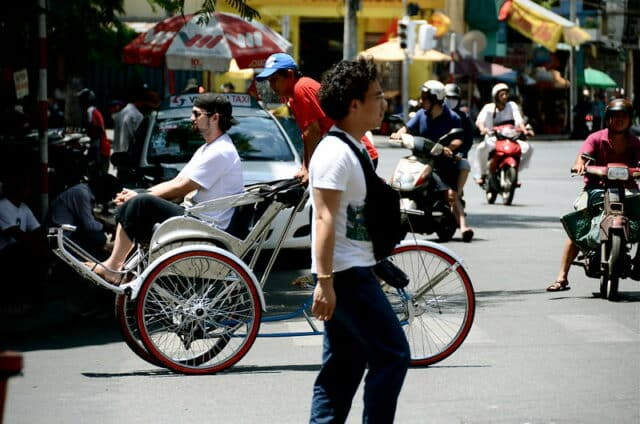 Rikschas in Hanoi