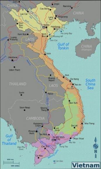 Vietnam Karte