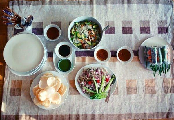 Vietnam-Esskultur-Küche