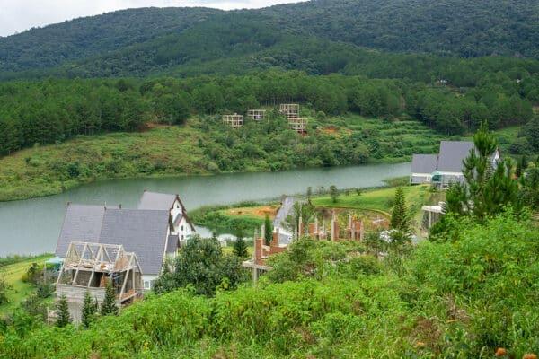 Resort am Tuyen Lam See in Da Lat, Vietnam